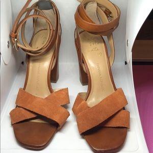 Leather Banana Republic Heel Sandals